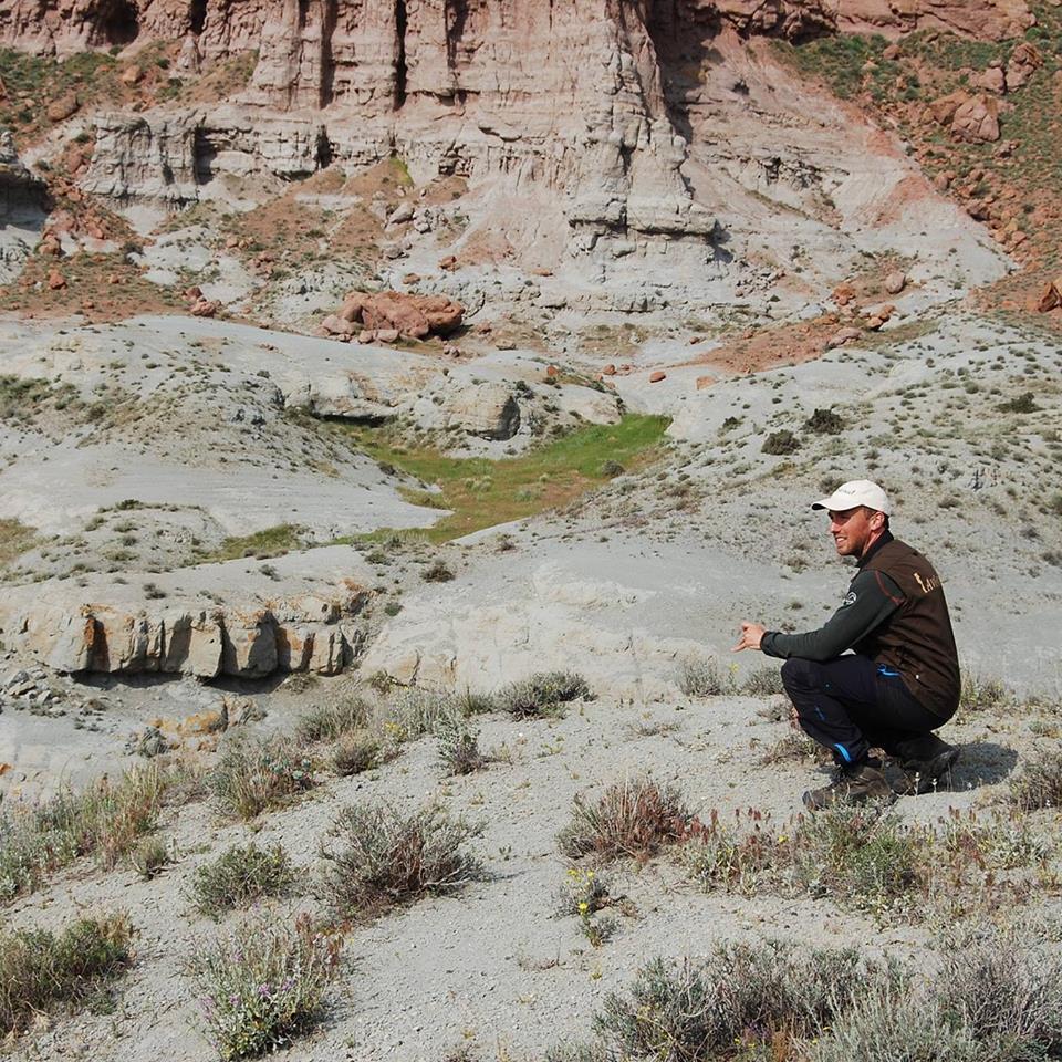 Contemplative break during explorative birding in the Negram Desert, near the Iranian border, Azerbaijan. May 2016.